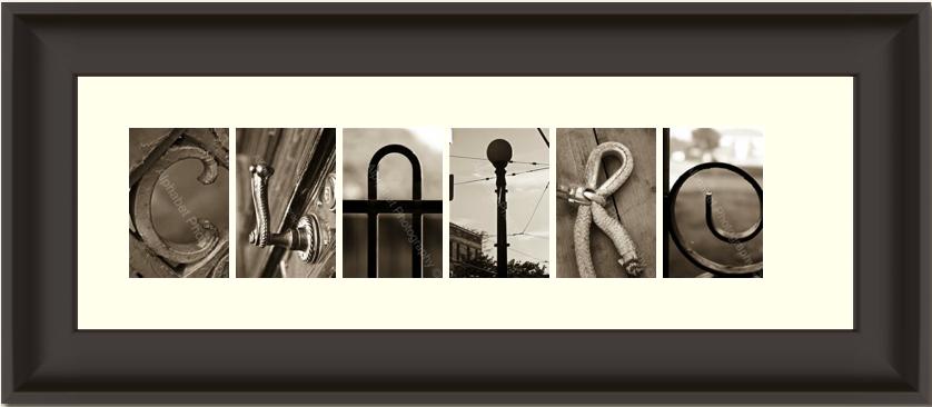 Alphabet Soup DIY Word Art Photography