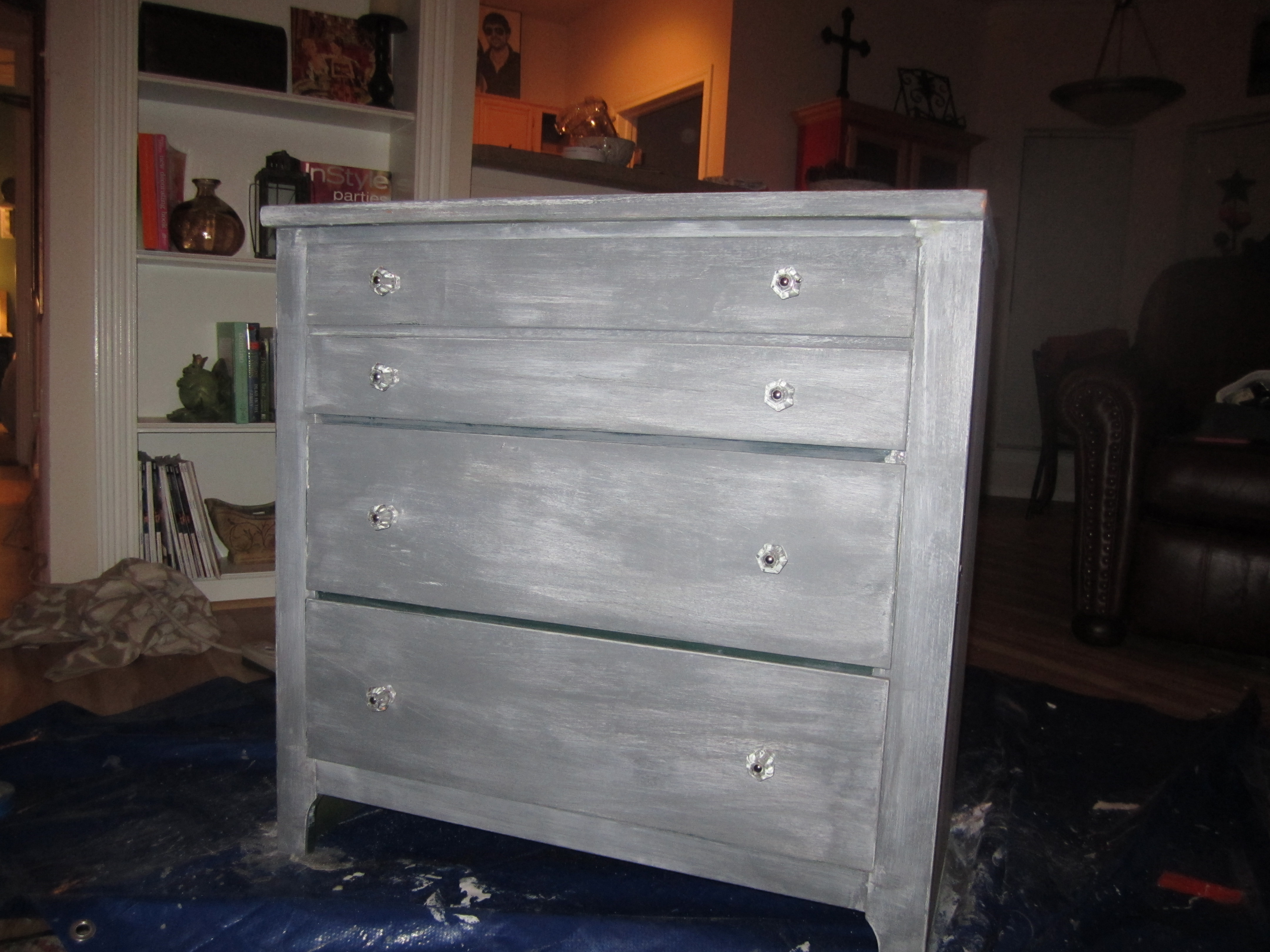 Diy Gray White Washed Dresser The Funky Bear
